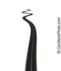 blacktop tarmac road  - 3D render of a blacktop tarmac road