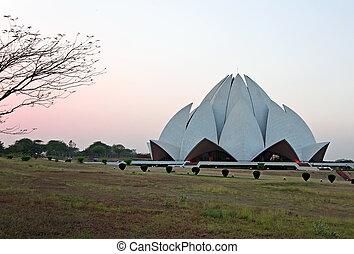 Lotus Temple located in New Delhi, India