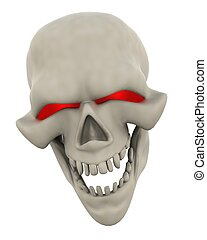Evil Skull Face - 3D Render of a Halloween Evil Skull Head