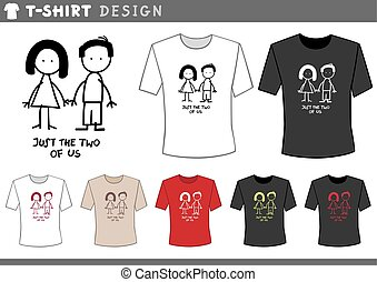 t shirt with couple