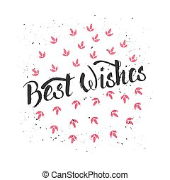 Best Wishes - Christmas design element for banner, card,...