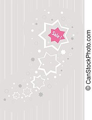 stars as a business advertising for discount sale