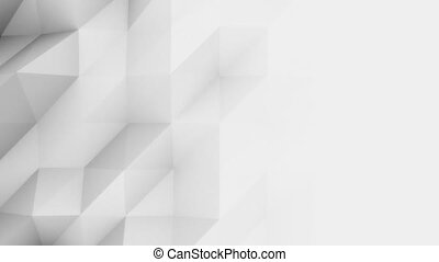 Abstract light grey 3D polygonal motion background for modern reports and presetations. 4K seamless loop animation, ProRes
