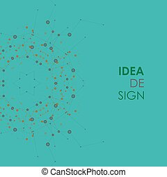Abstract idea design in connect style. Vector network...