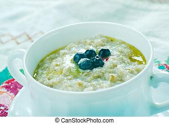 Porridge - puuro -Finnish version Porridge dish made by...