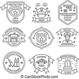 Police Label Set - Police label set with police academy...