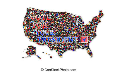 appeal to vote on presidential election with map of USA