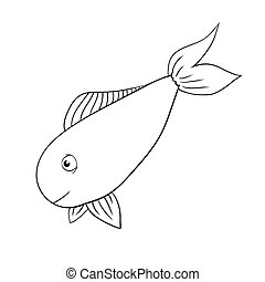 vector hand drawn fish