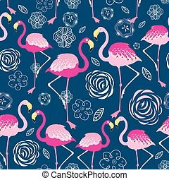 Bright pattern flamingos
