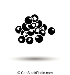 Blueberry icon. White background with shadow design. Vector...