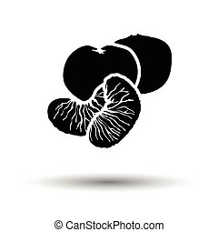 Mandarin icon. White background with shadow design. Vector...