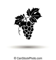 Grape icon. White background with shadow design. Vector...