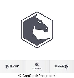 Horse head - Stylized Dark Horse Head for Mascot Logo...