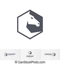 Horse head - Stylized White Horse Head for Logo Template