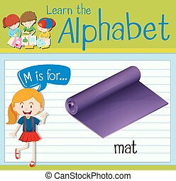 Flashcard letter M is for mat