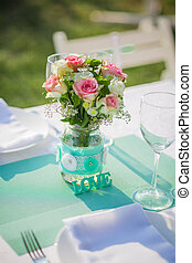 Table wedding reception