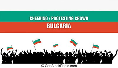 Cheering or Protesting Crowd Bulgaria - Bulgaria silhouettes...