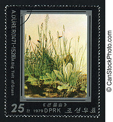 NORTH KOREA - CIRCA 1979: A post stamp printed in North...