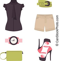 Vector flat design concept of fashion look