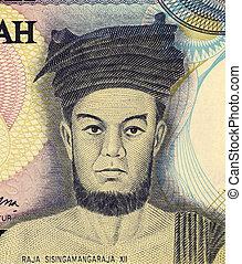 Raja Sisingamangaraja XII (1849-1907) on 1000 Rupiah 1987...