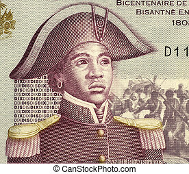 Sanite Belair 1781-1805 on 10 Gourdes 2004 Banknote from...