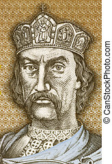 Vladimir I of Kiev (958-1015) on 1 Hryvnia 1995 Banknote...