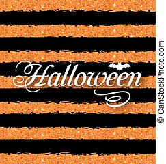 Happy Halloween Poster. Light Holiday Background