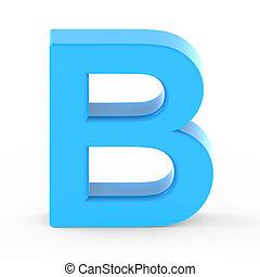light blue letter B