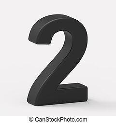 left black number 2