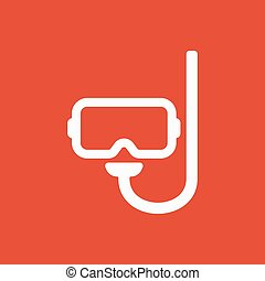 The scuba mask icon. Diving symbol. Flat Vector illustration