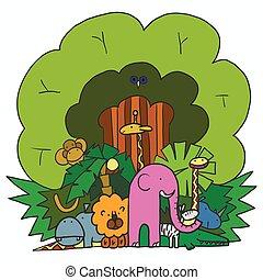 Company Cartoon Animals