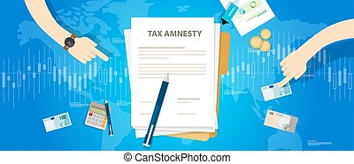 Tax amnesty illustration, government forgive taxation