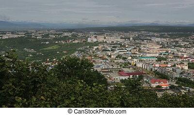 Petropavlovsk Kamchatsky on the background of Avacha group...