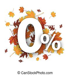 O Percents Autumn Foliage - Zero with percent and foliage on...