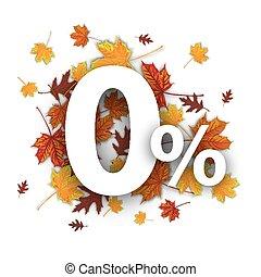 O Percents Autumn Foliage - Zero with percent and foliage on...