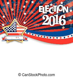 Presidential Election 2016 Golden Star Stripes -...