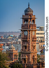 Jodhpur clock tower - Clock tower in Jodhpur - city...