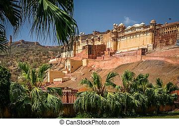 Amber fort - Impressive Amber Fort near Jaipur city in...