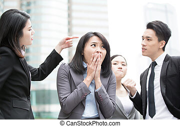 business people bullying - businesspeople bullying in...