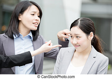 business woman bullying - businesswoman bullying in office,...
