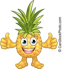 Fruit Cartoon Pineapple Mascot Character - A fruit cartoon...