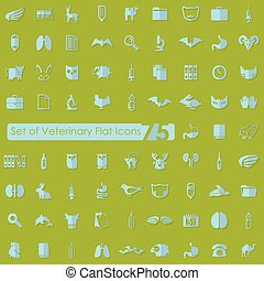 Set of veterinary icons