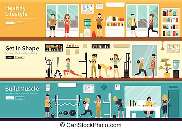 Healthy Lifestyle Get In Shape Build Muscle flat interior...