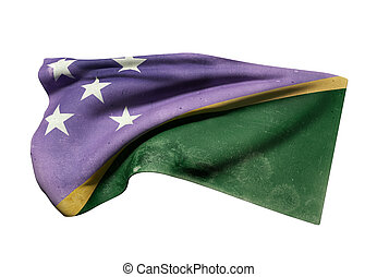 Solomon Islands flag - 3d rendering of Solomon Islands flag...