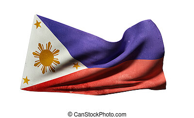 Republic of the Philippines flag waving - 3d rendering of an...