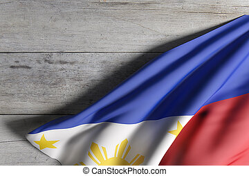 Republic of the Philippines flag waving - 3d rendering of a...