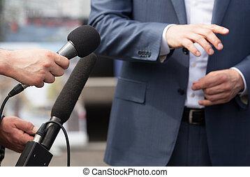 壓, 媒介, 會議, 接見, 發言人