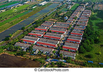 Farmland housing in land development in Thailand
