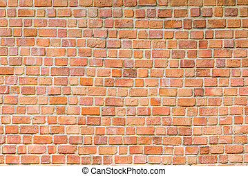 background and texture of decorative red brick wall pattern...