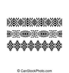 Black ethnic ornamental set